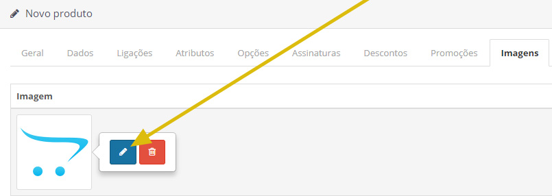 cadastrar imagem produto opencart