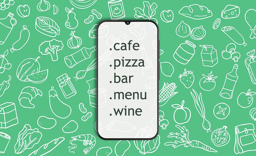 Os melhores domínios para sites de gastronomia, restaurantes e bares