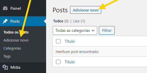Adicionar Post WordPress