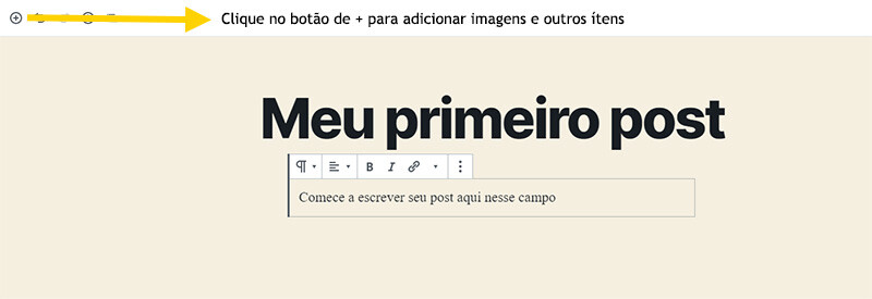 Primeiro Post WordPress